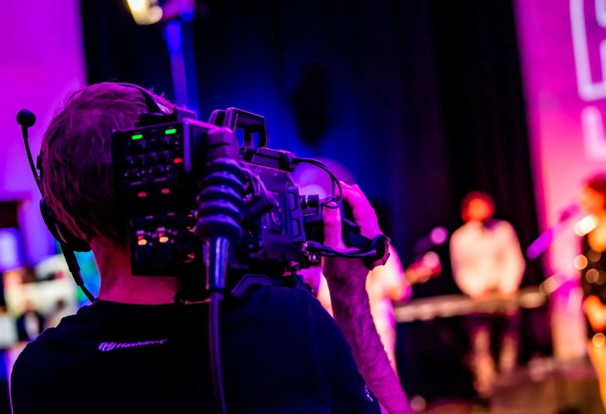 Camera man bij online event